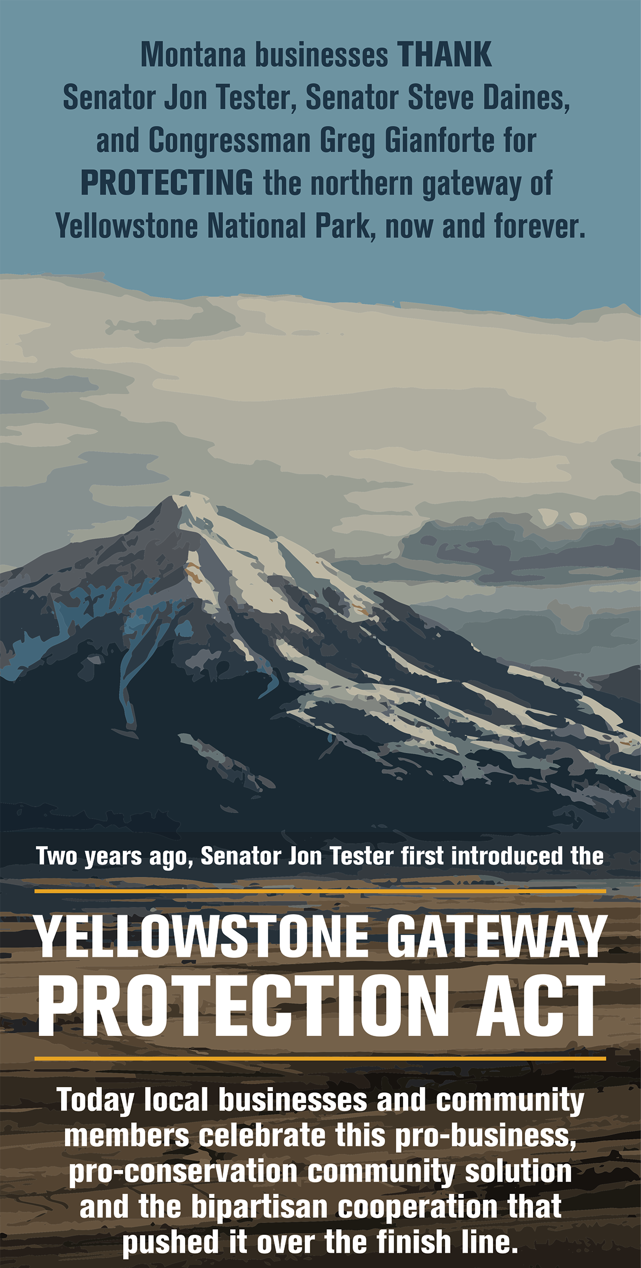 Yellowstone Gateway Business Coalition, Don't Mine Yellowstone